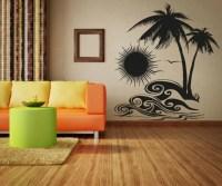 Vinyl Wall Decal Sticker Tropical Sunset OSAA267s
