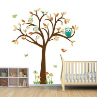 Owl Tree Wall Decal Gender Neutral Wall Decal Owl tree wall