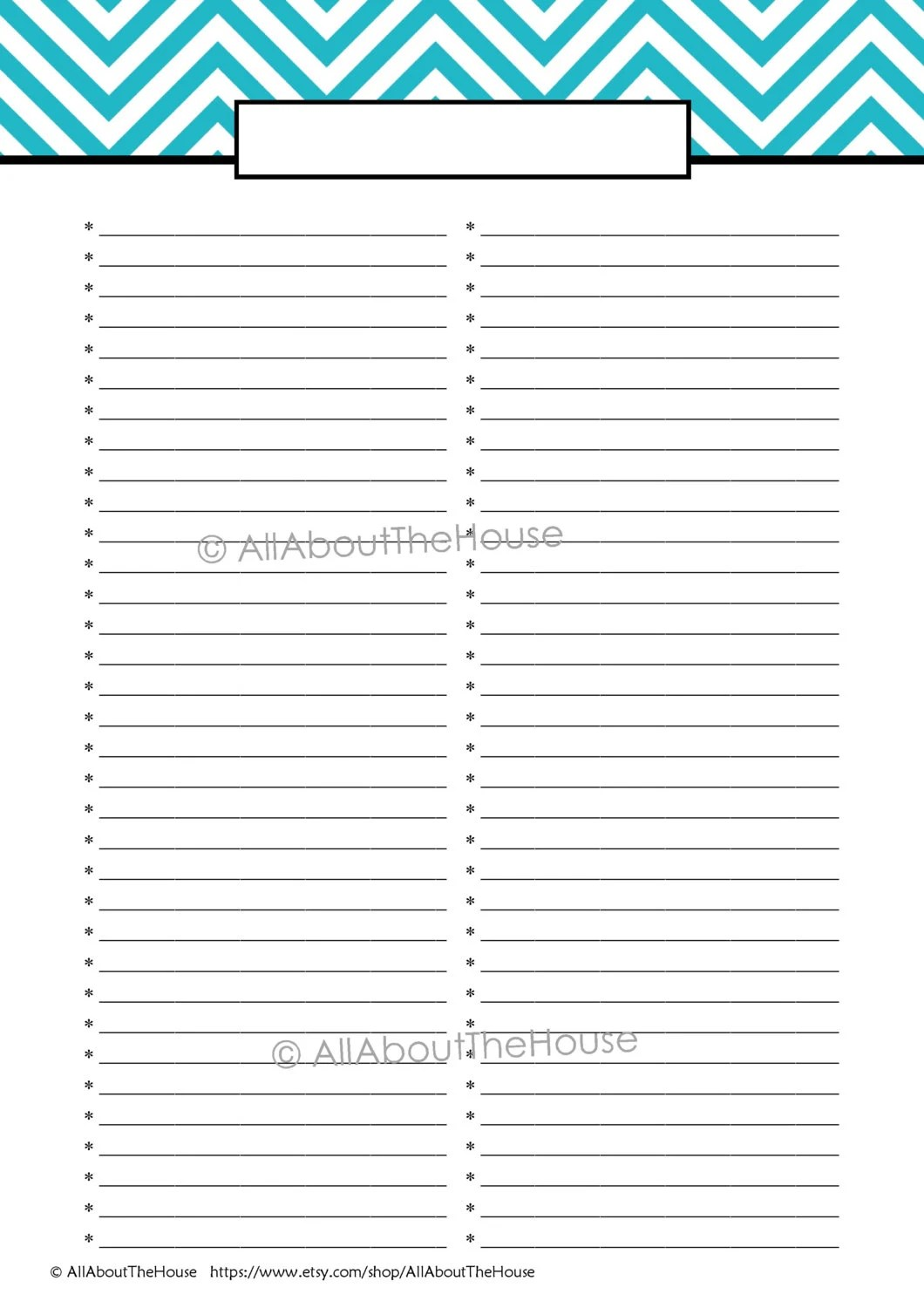EDITABLE Printable To Do List Printable Shopping List - printable shopping list