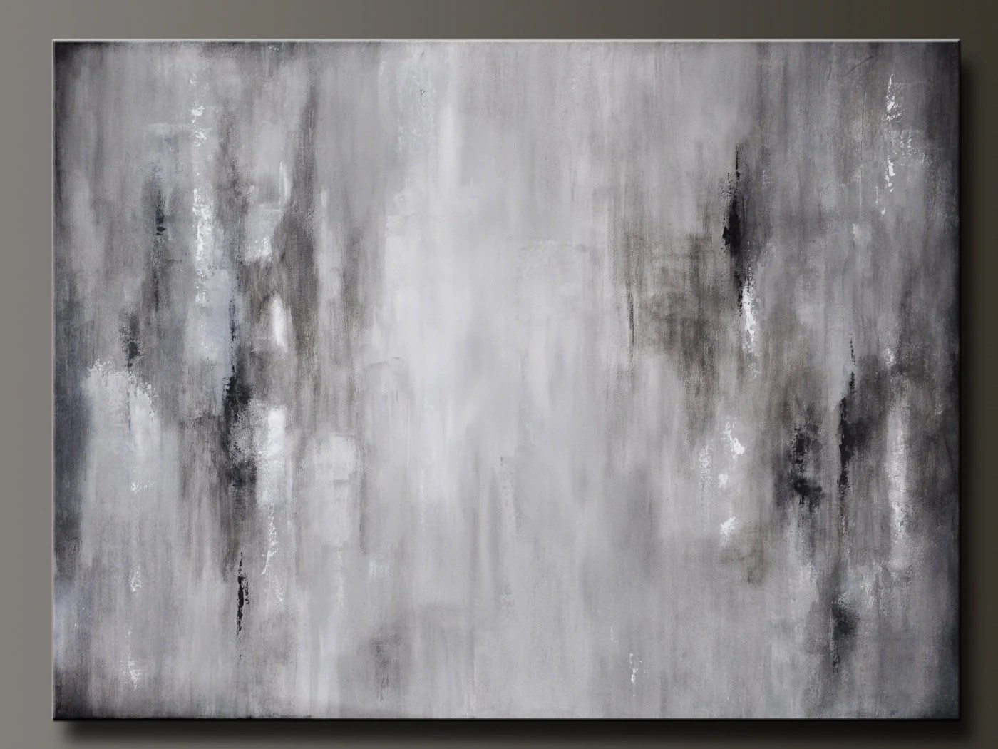 Black White And Gray Paintings Graphite Gray 40 X 30 Abstract Acrylic Painting Huge