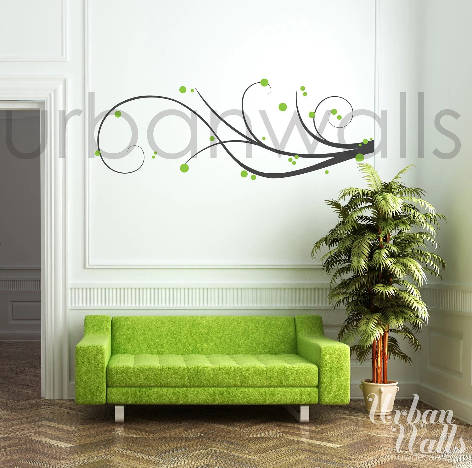 Vinyl Wall Decal Vinyl Wall Sticker Decal Art Swirl Away