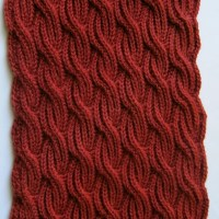 Knit Scarf Pattern: Brioche Cabled Turtleneck Scarf Knitting