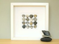 Summer seashells framed 3D art found objects