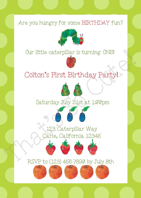 Free Caterpillar Invitations Templates Party Invitations