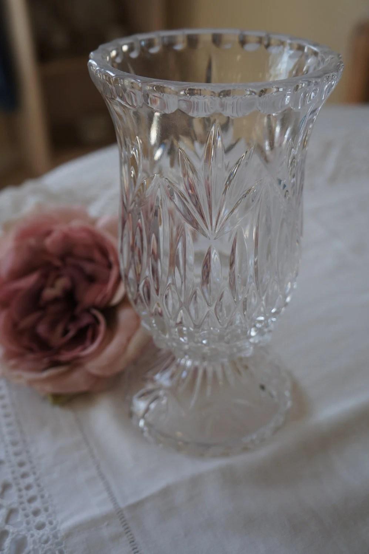 Princess House Vintage Lead Crystal 2 piece candle holder