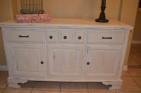 Antique White Vintage Buffet/ Sideboard / Console Cabinet/