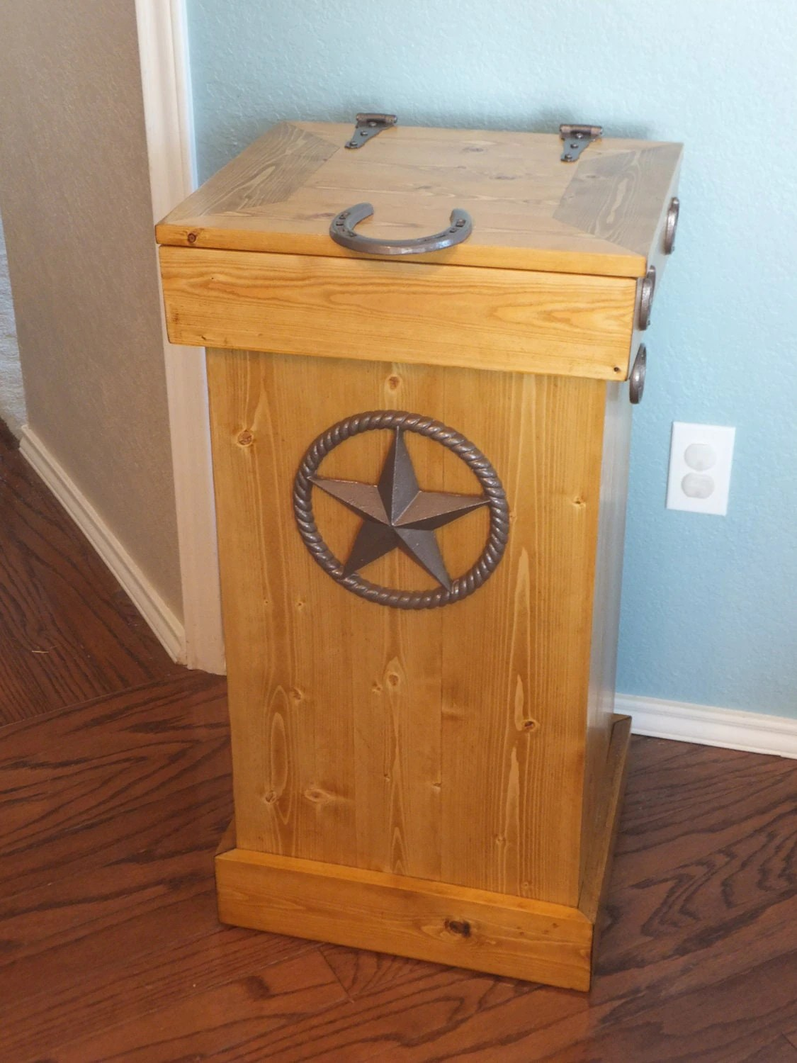 Wooden Kitchen Trash Containers Wood Trash Can Storage Bin