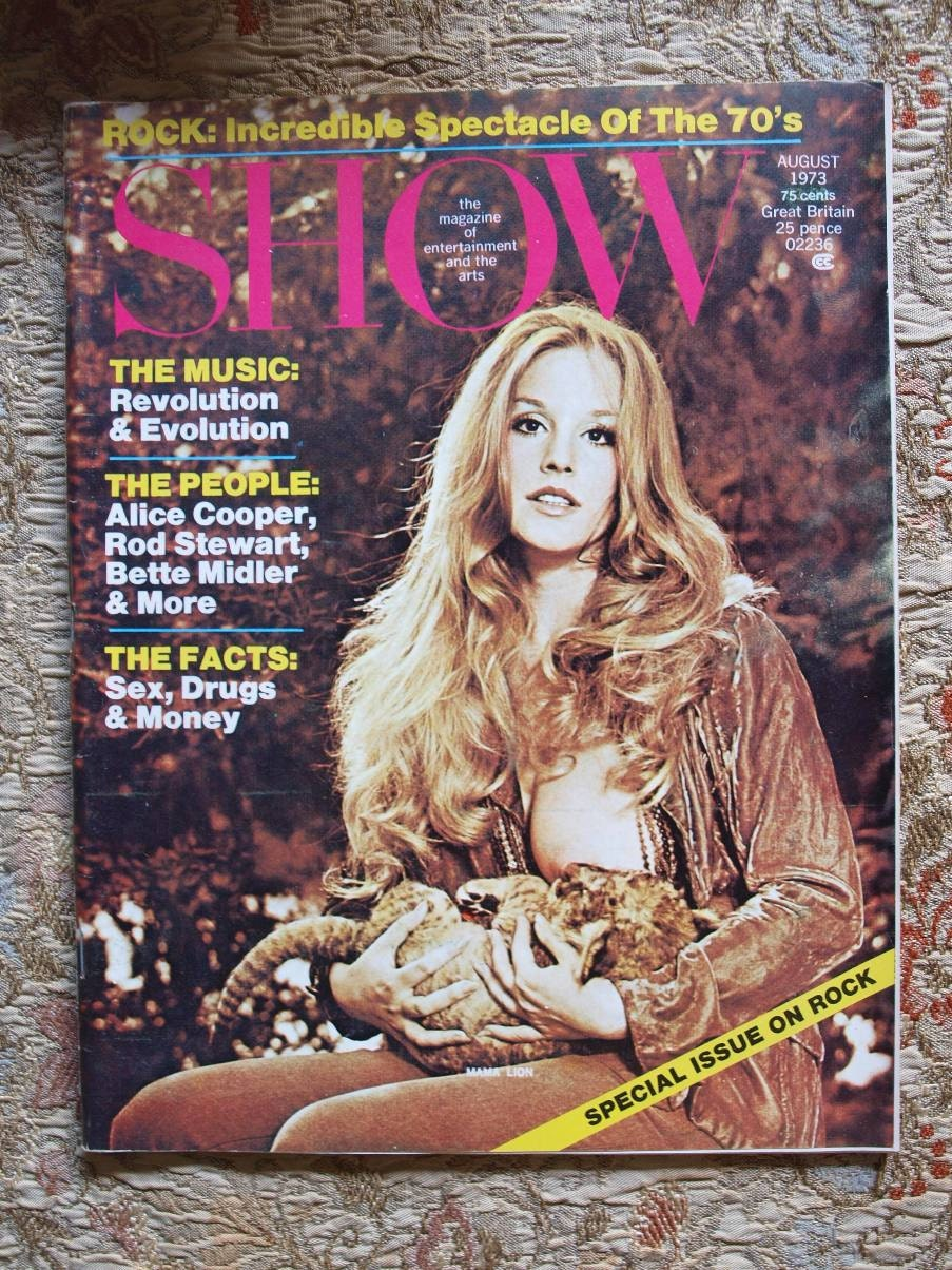 Baby Bette Show Magazine Breast Feeding Baby Lion Lynn Carey 1973 Lynn