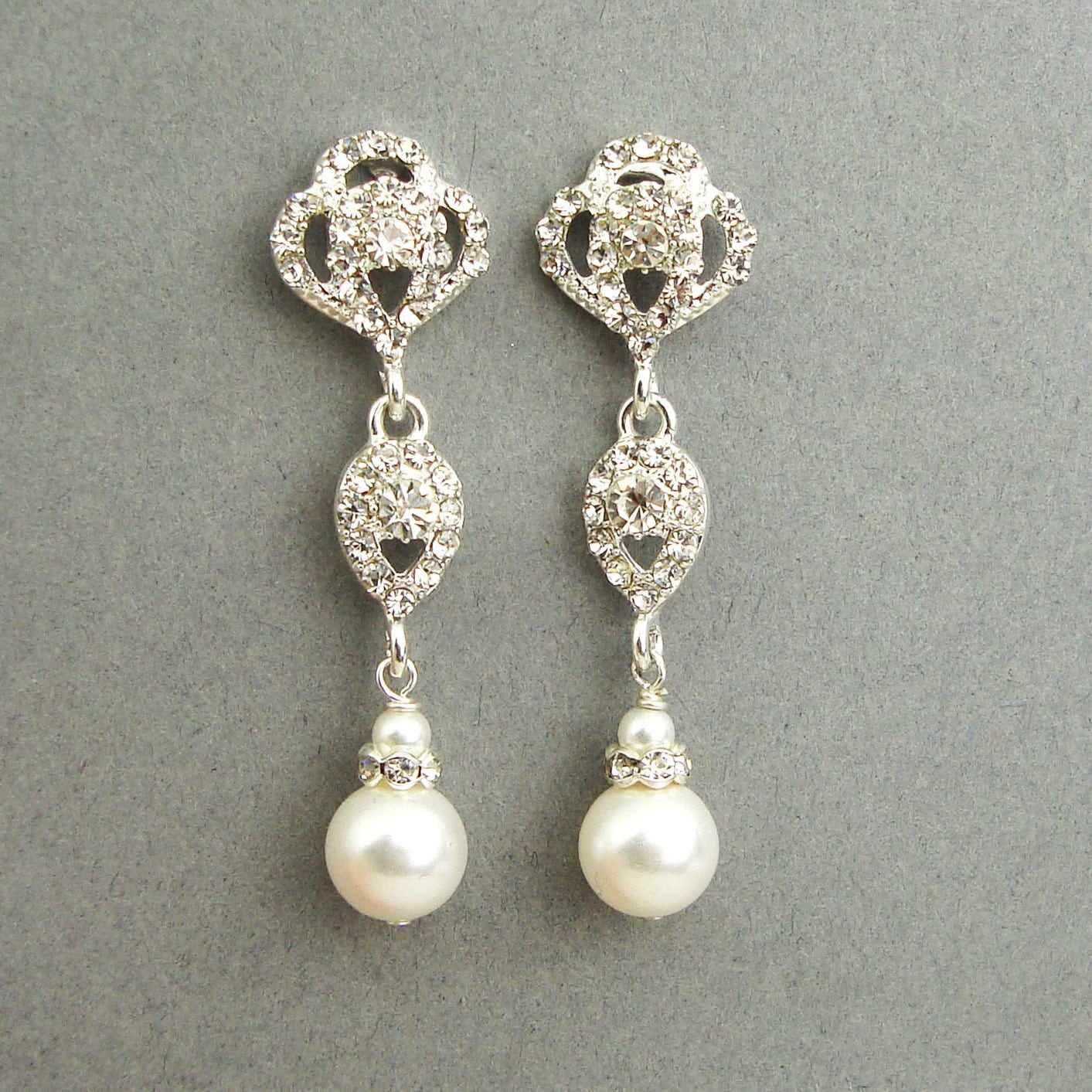swarovski crystal and pearl bridal wedding jewelry zoom