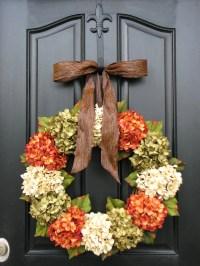 Fall Hydrangea Wreaths Front Door Wreaths Wreaths for Front