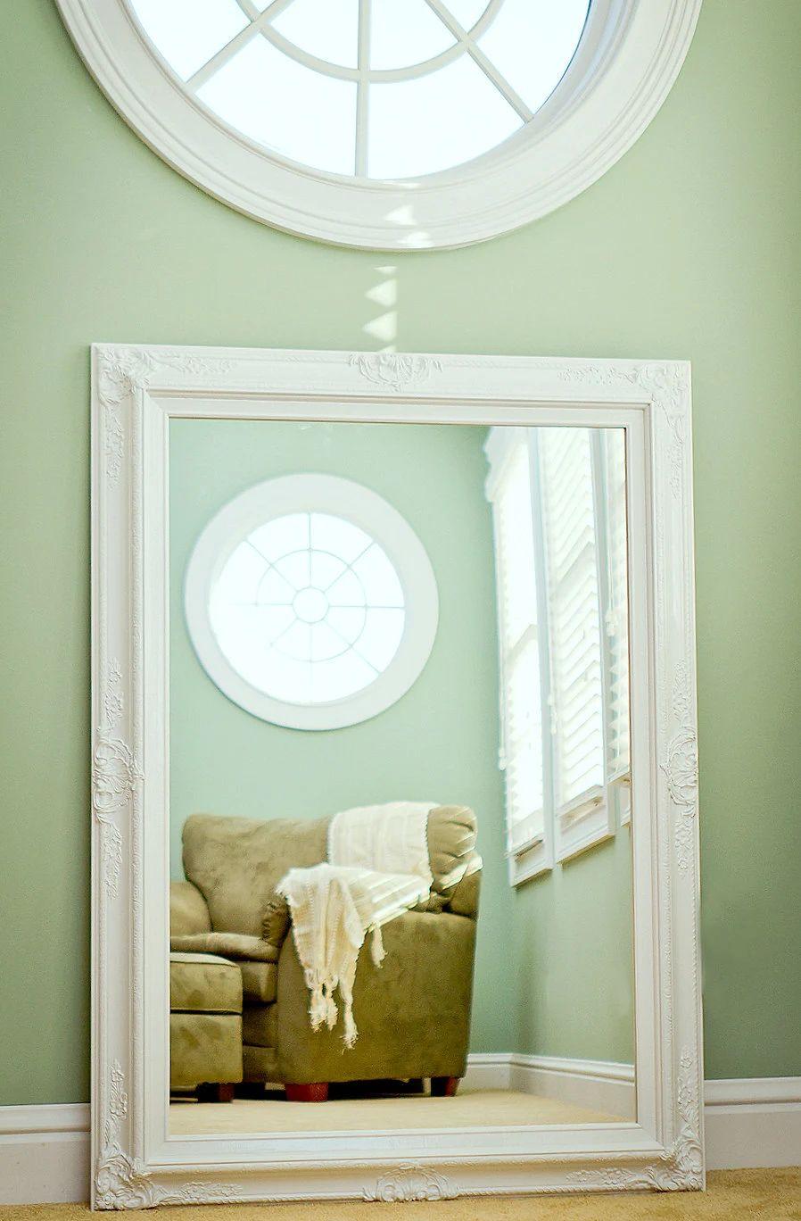 Large bathroom mirror large mantel mirror 44x32 by