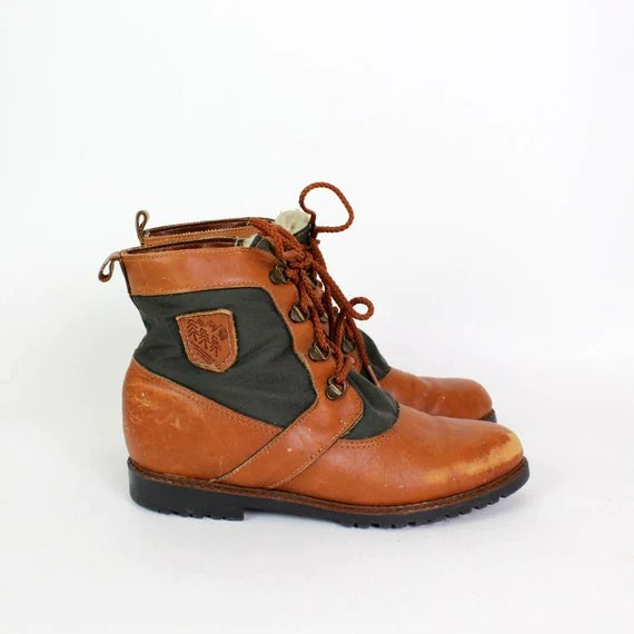 Lace Up Ankle Boots 75 Eddie Bauer Leather Fleece By