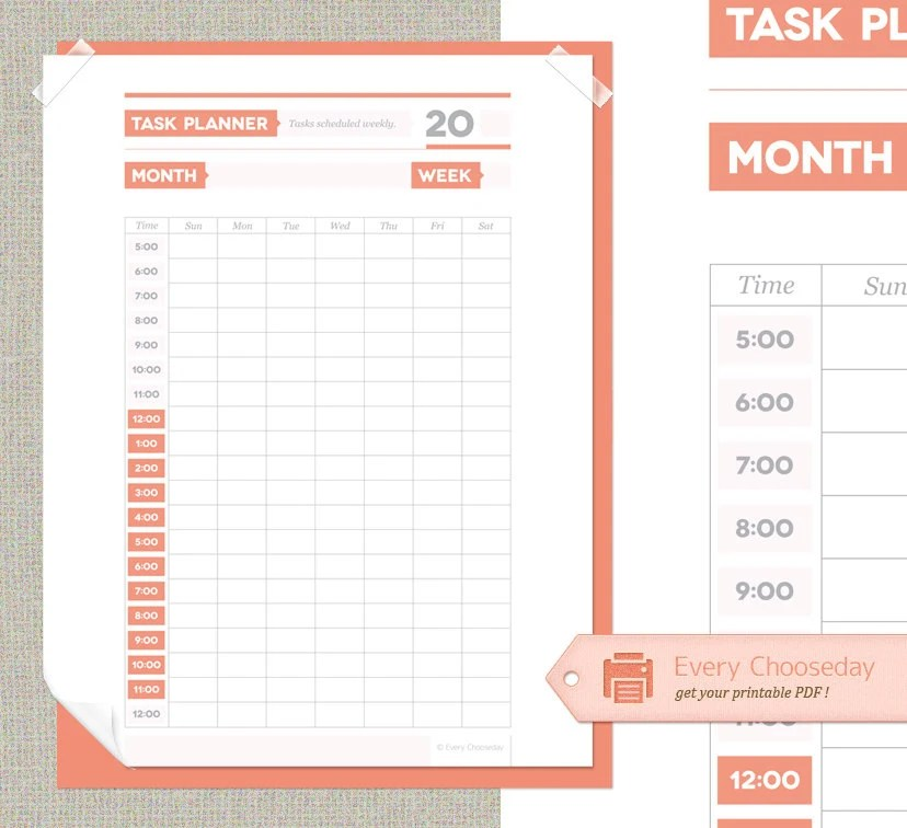 Printable Planner Pages 20132014 Daily Weekly by AnimaVivo, $500 - task list