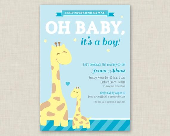 Beautiful items similar to giraffe baby shower invitation printable items similar to giraffe baby shower invitation printable baby shower invitation giraffe filmwisefo
