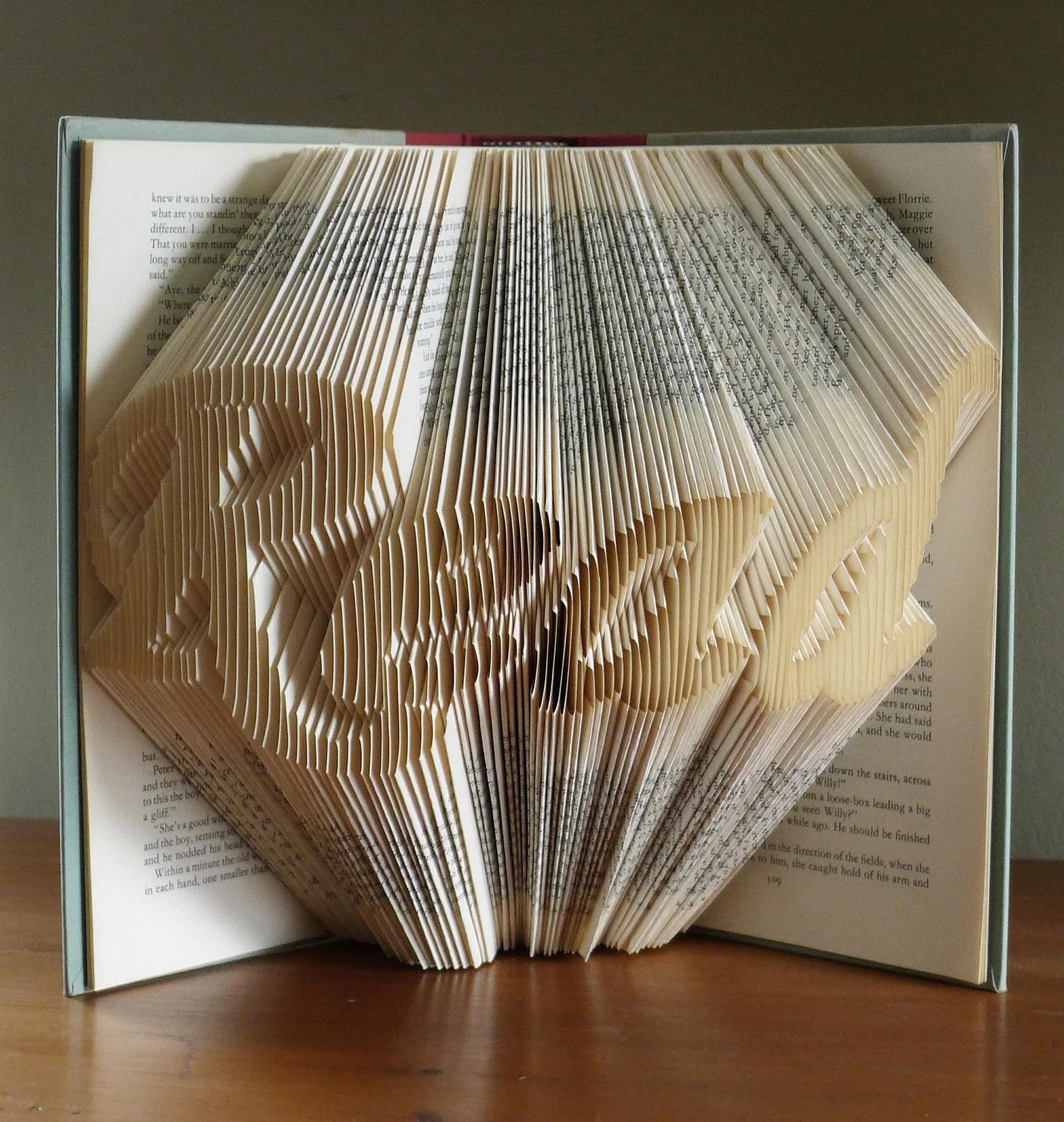 Art For Book Lovers Folded Book Art Gifts For Book Lovers Read Altered Book