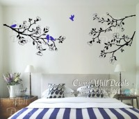 Nature tree Vinyl wall decals branch birds wall decals by cuma