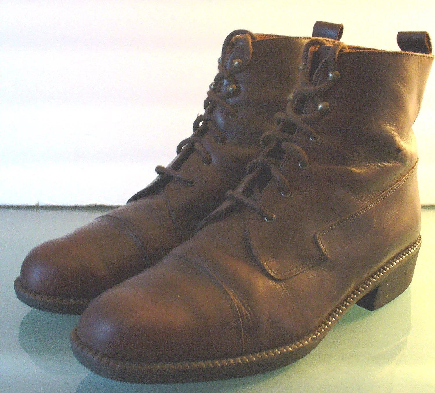 Vintage Eddie Bauer Paddock Boots Made In Italy By