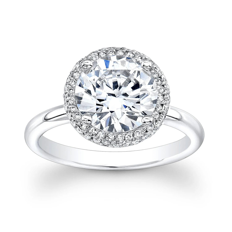 ladies 18kt white gold diamond halo walmart jewelry wedding sets zoom