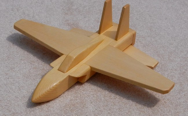 Wooden Jet Airplane Toy Pine By Woodworksbyjim On Etsy