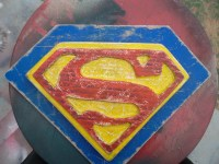 Superman logo wooden wall art