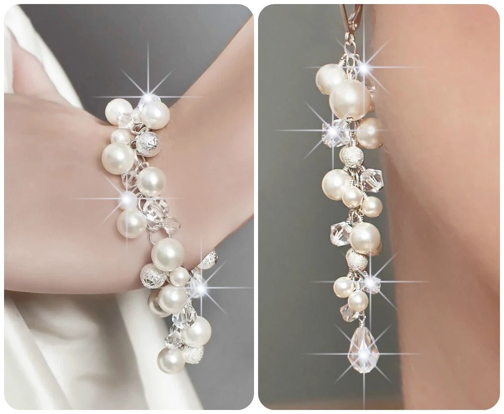 wedding jewelry set wedding pearl wedding jewelry zoom