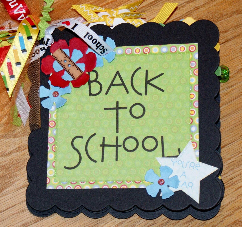 Premade school scrapbook mini album teacher gift preschool scrapbook album back to school scrapbook album elementary scrapbook album