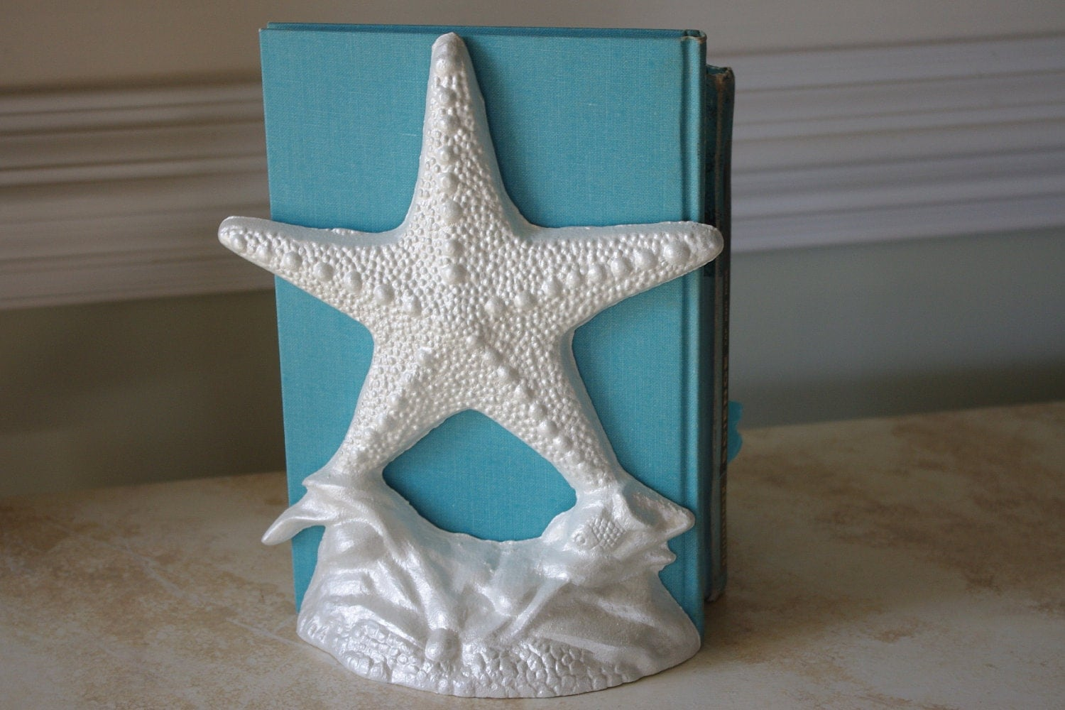 Nautical Doorstop Coastal Decor Cast Iron Starfish Door Stop Or Book End