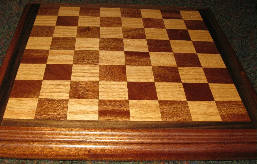 Custom wood chess checker board