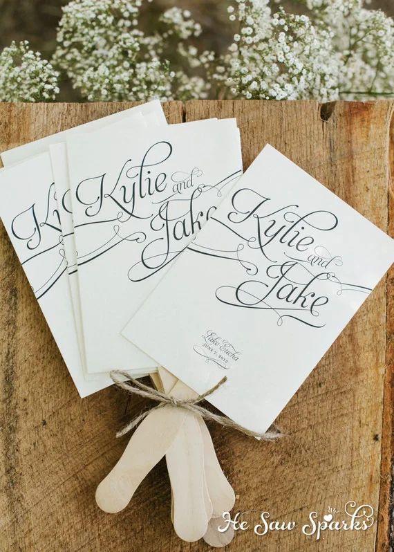 blank wedding programs