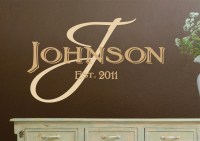 Monogram Wall Decals Personalized Family Name Vinyl Wall