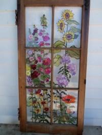 Painted Vintage Window Grandma's Garden