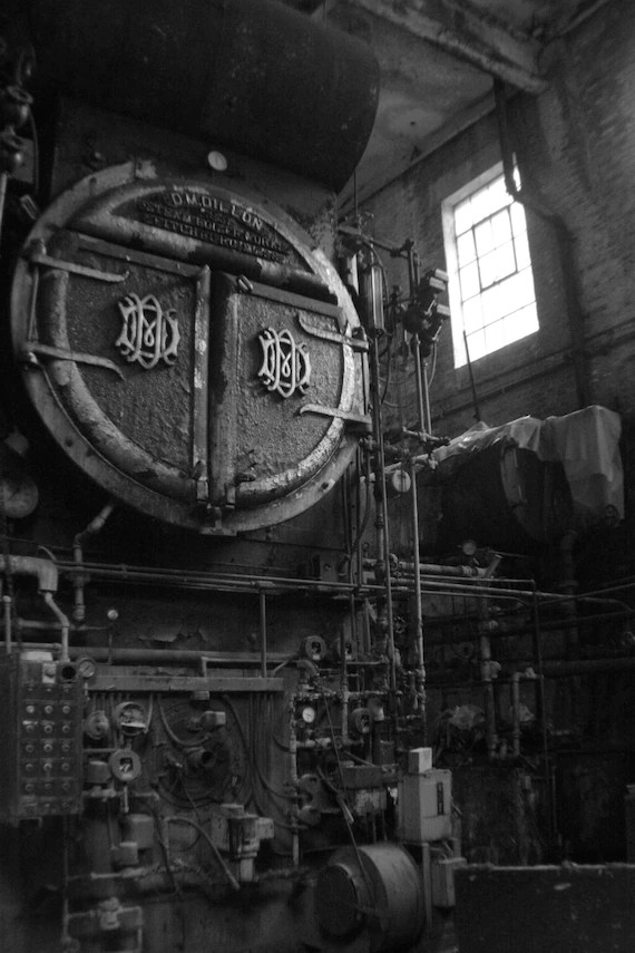 Black And White Victorian Wallpaper Items Similar To Old Boiler Room Vermont Industrial Art