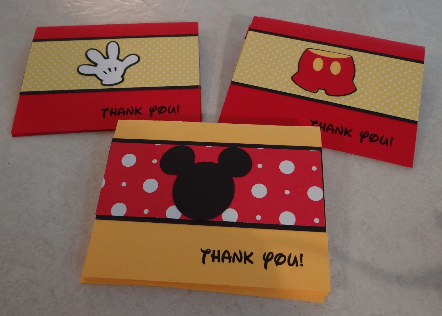 mickey mouse thank you cards