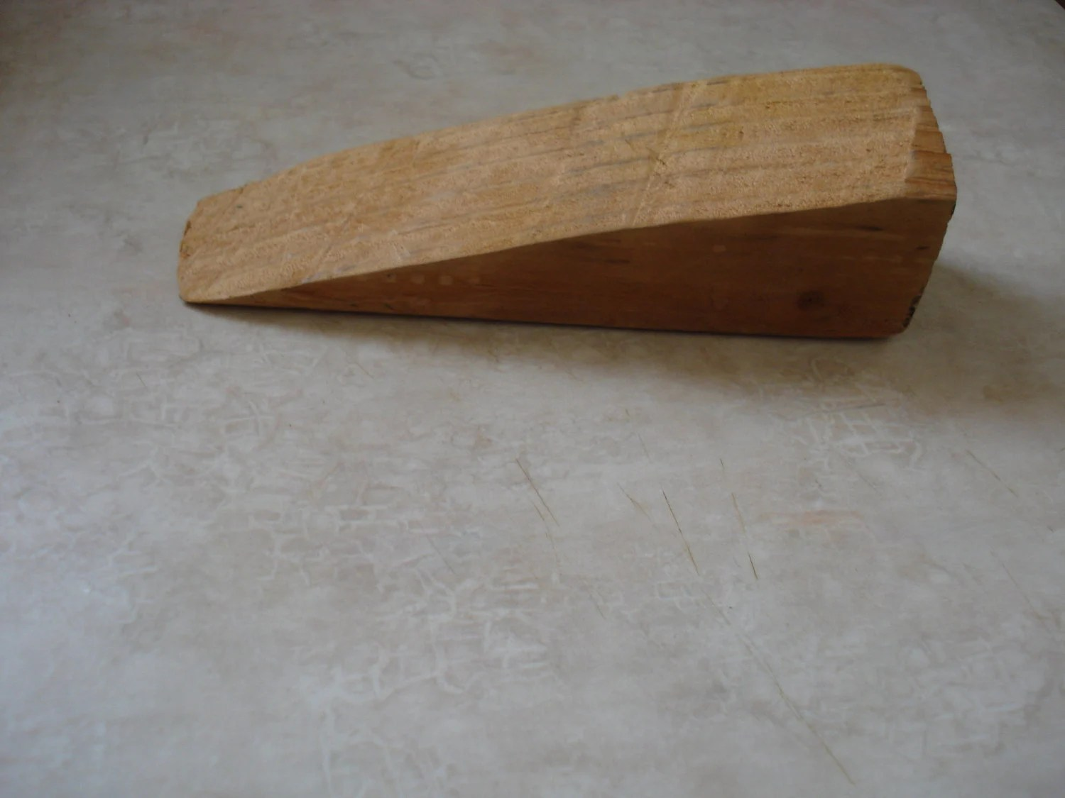 Handmade Homemade Solid Wood Door Stoppers by