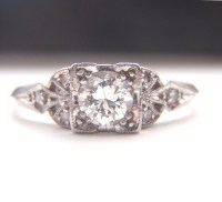 Edwardian / Art Deco Engagement Ring. Quality Platinum and