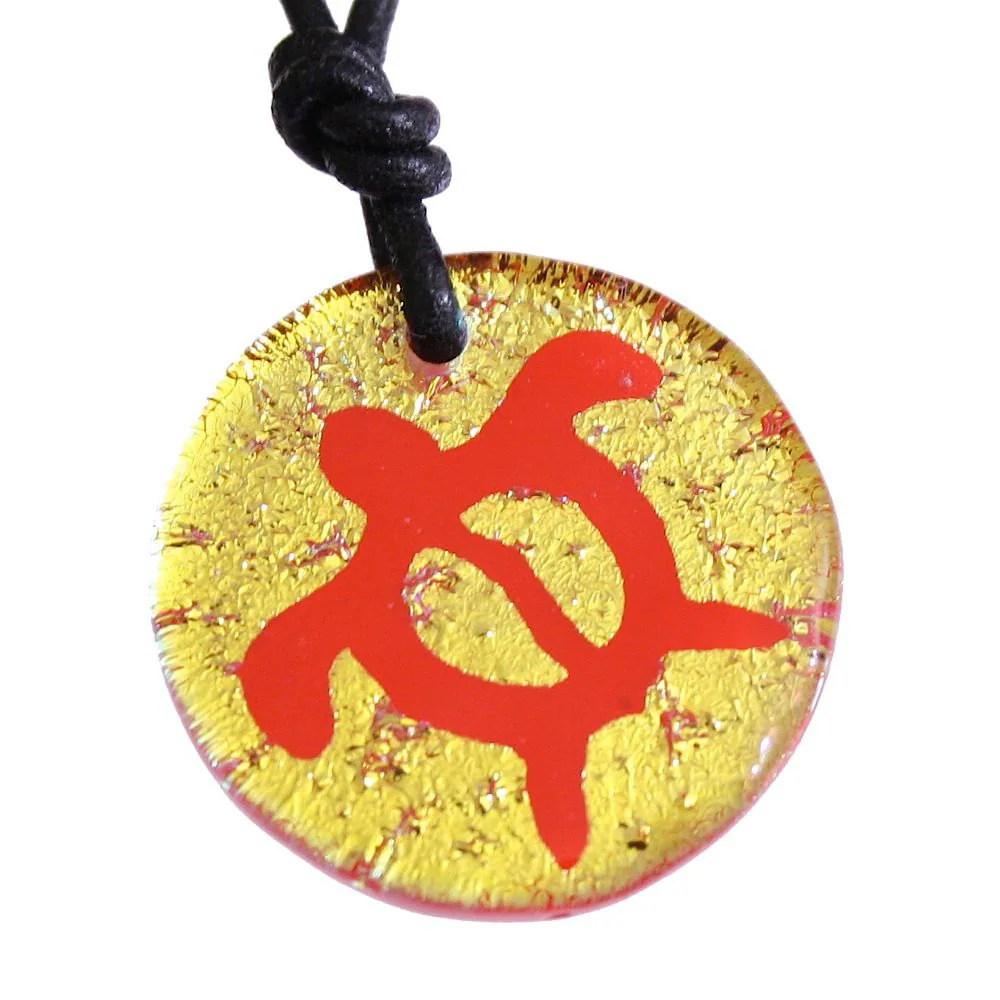 Beautiful Turtles Jewelry Hawaii Jewelry Honu Symbol Dichroic