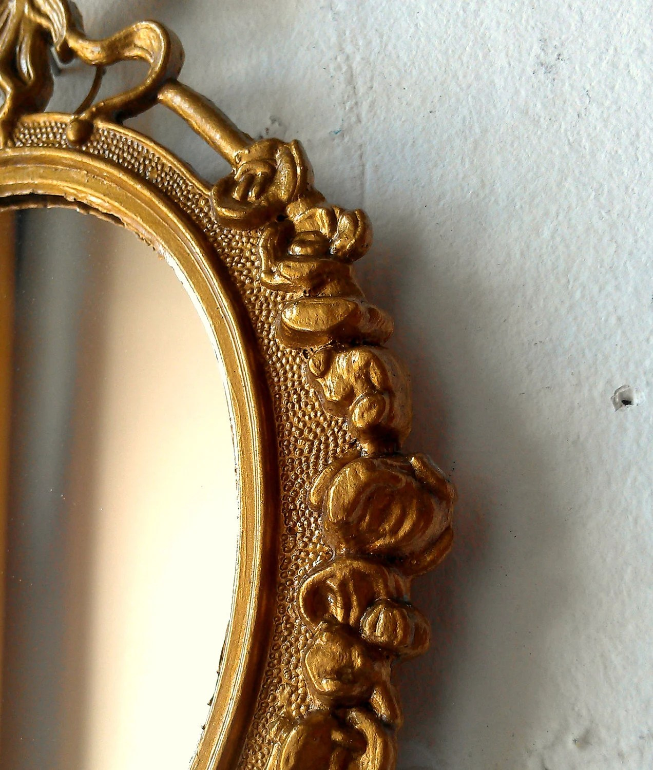 Small Gold Mirror Set Gold Framed Mirror Set Of Three In Small Ornate Vintage Frames
