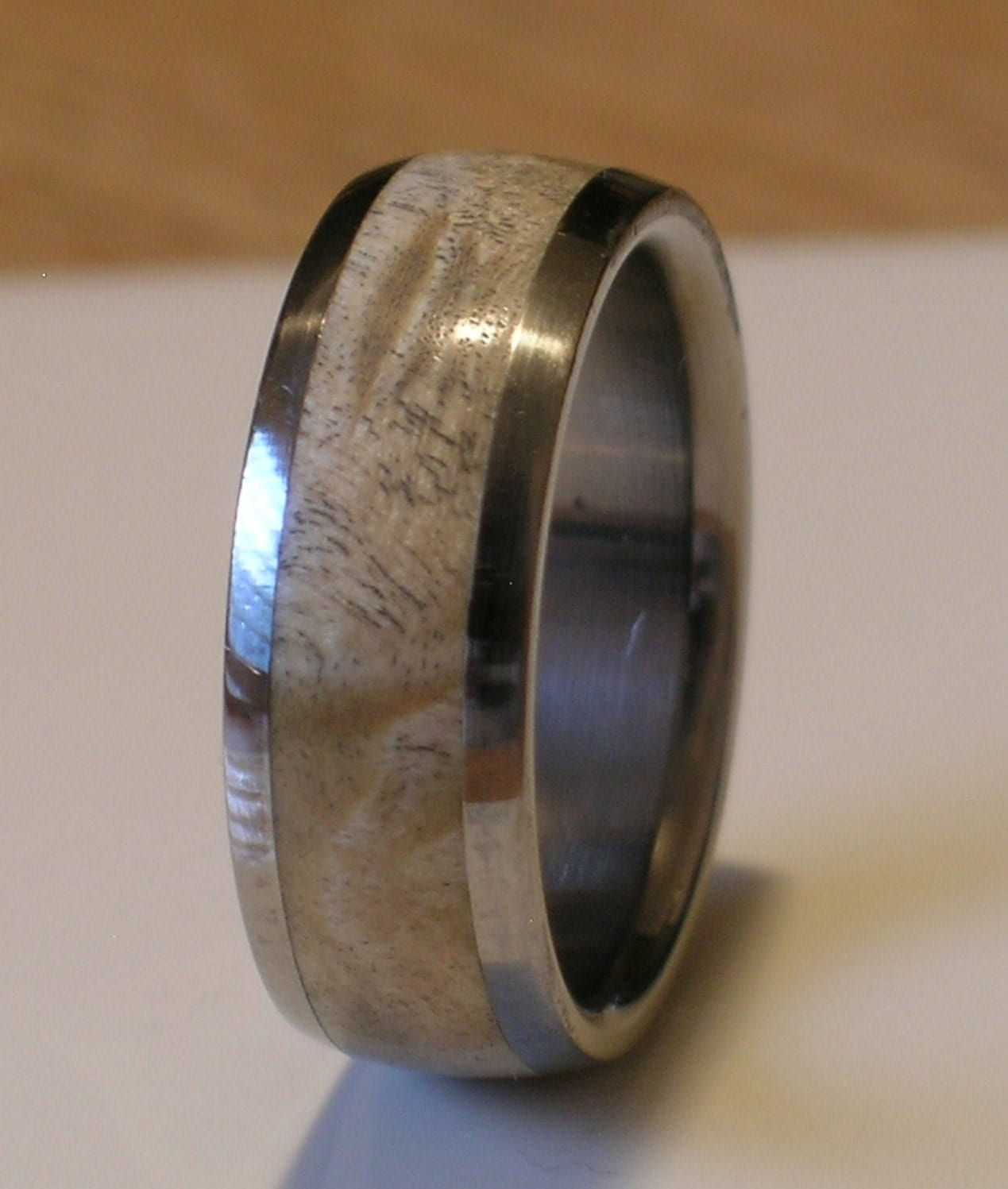 coolest mens wedding rings unique mens wedding rings Tungsten Wedding Band Natural Maple Burl Wood Inlay by usajewelry