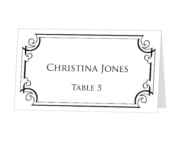 place card template for word - Boatjeremyeaton - place card template