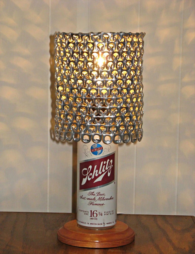 Vintage Schlitz Beer Can Lamp With Pull Tab Lamp Shade The