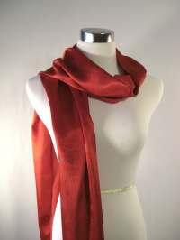 Christmas Long Scarf Silky Satin Scarf Shiny Red Scarf
