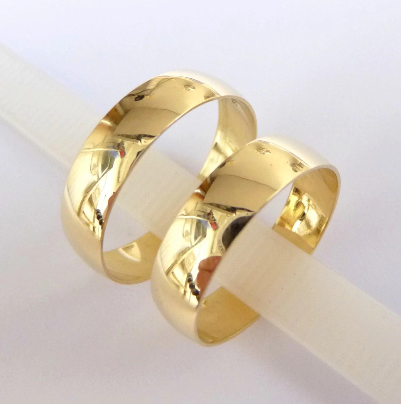 wedding bands set womens mens wedding cheap gold wedding bands gold 5mm wide wedding bands zoom
