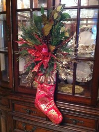 Items similar to Christmas Stocking Door Hanging - Holiday ...