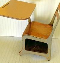 Mid Century Arm Chair Desk Vintage American Desk Co Wood