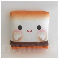 Decorative Pillow Marshmallow Pillow S'more Camp