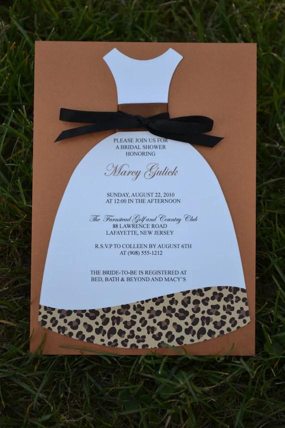 Animal Print Bridal Shower Invitation Orderecigsjuiceinfo