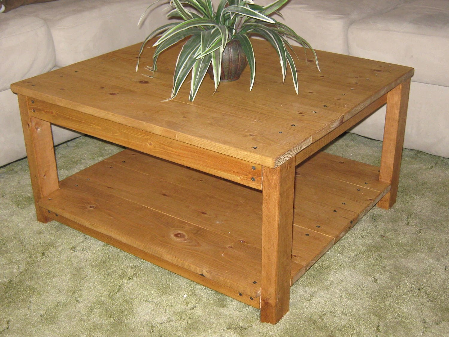 Square Coffee Table Plans Diy Plans To Make Square Wooden Coffee Table By Wingstoshop