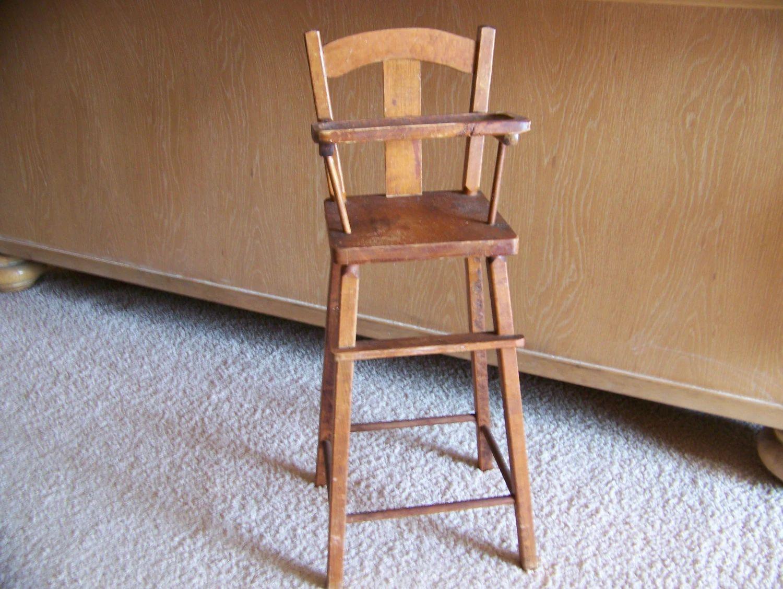 Vintage wood baby high chair - Vintage Wooden Toy Baby High Chair Download Antique  Wooden High - Vintage Wood Baby High Chair