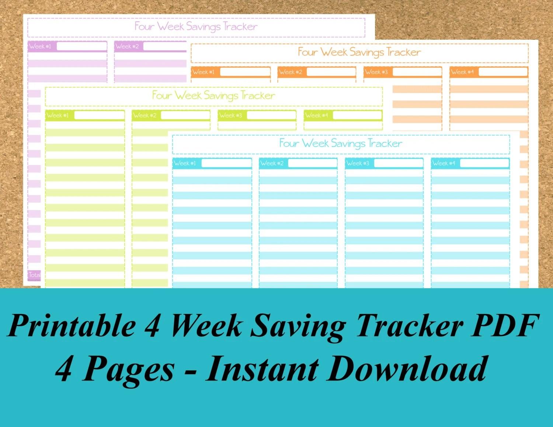 Savings Tracker, Saving Tracker, Printable Savings Tracker