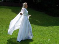 Medieval Wedding Gown white wedding dress middle age